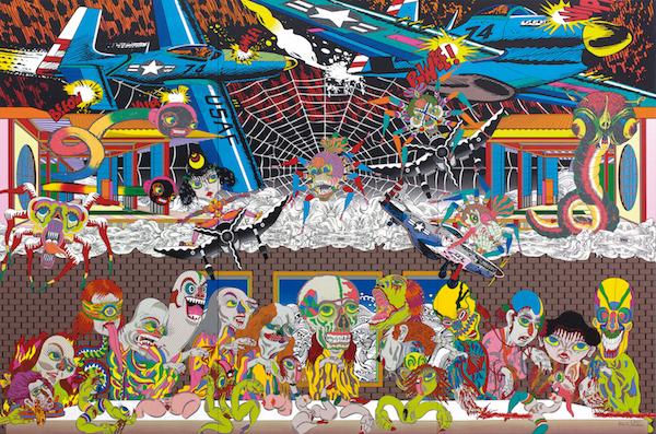 Keiichi Tanaami, The Last Supper. Courtesy of Colección  SOLO.