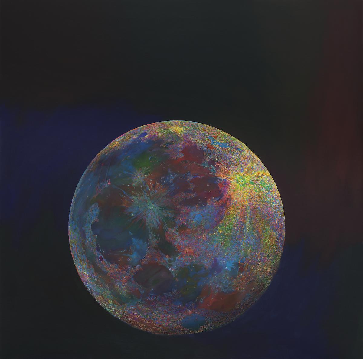 Wang Yuyang, Moon 201808, 2018. Courtesy of John Dodelande.
