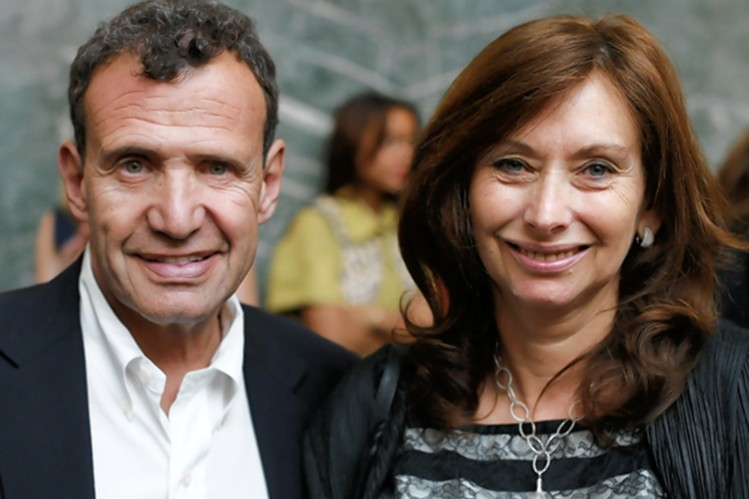 Poju (left) & Anita (right) Zabludowicz. Photo: Wall Street Journal
