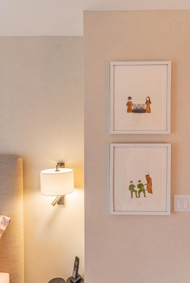 "Two artworks by Marcel Dzama, ""Untitled,"" 2000. Courtesy of Oleg Guerrand."