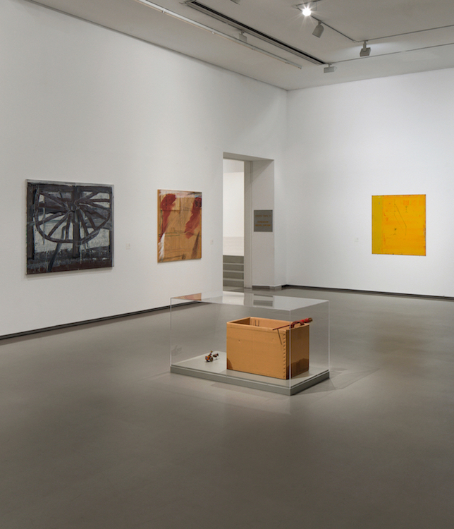 "Installation view from the exhibition ""Potent Wilderness"", Tel Aviv, 2014. From Left to right: Moshe Kupferman, Untitled, 1989. Raffi Lavie, untitled, 1984. Ido Bar-El, Untitled, 1995. Courtesy of Igal Ahouvi Art Collection."