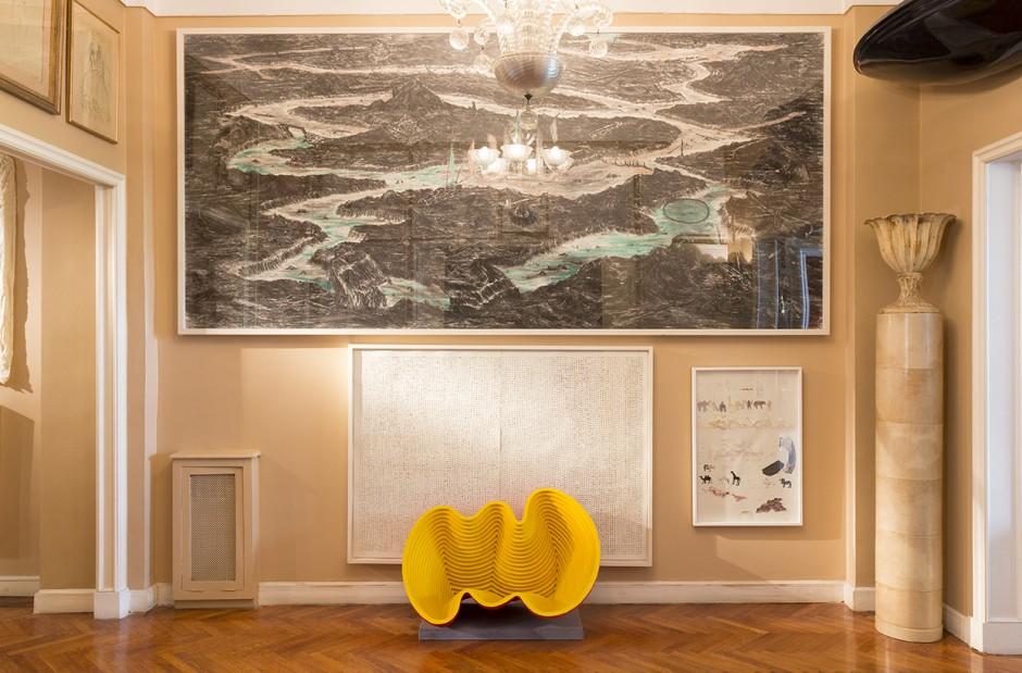 Works by artists Matias Duville, Eduardo Navarro and Elena Loson. Courtesy of Bruno Dubner.