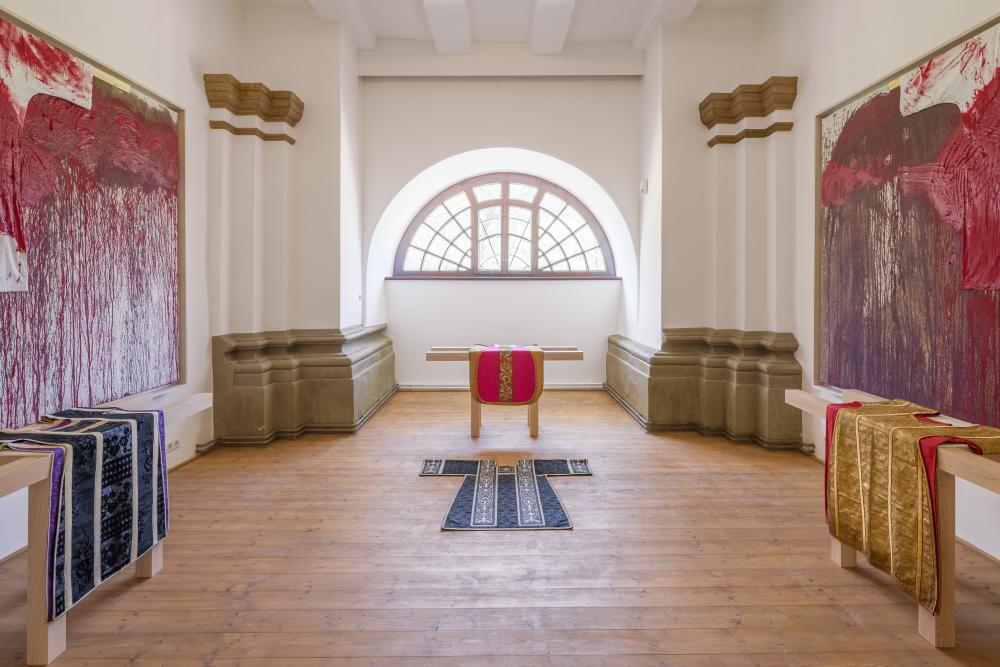Installation View: Hermann Nitsch, Hall Art Foundation | Schloss Derneburg Museum, Derneburg, Germany © Hall Art Foundation. Photo: Heinrich Hecht