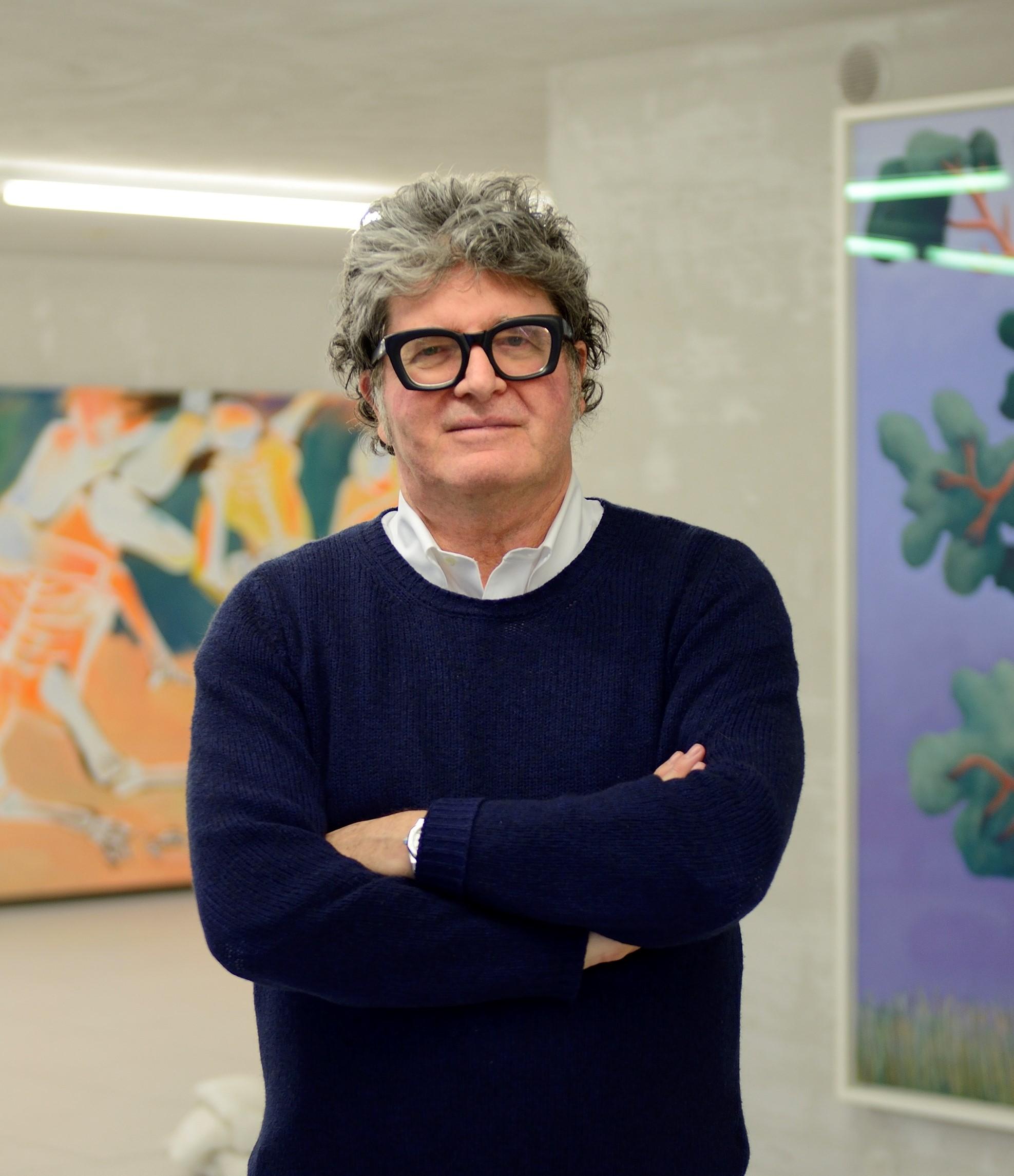 Mauro De Iorio in one of this exhibition spaces. Photo: Alessandro Gadotti. Courtesy of Mauro De Iorio.