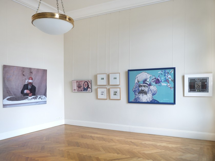 View of the exhibition with works by Michael Timpson, WP Eberhard Eggers and Jürgen Schieder Decker. Photo: atelier elf, Berlin. Courtesy of Haupt Collection.