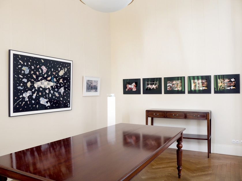 View of the exhibition of works by Justine Smith, Ulrich Wüst and Lee Mingwei. Photo: atelier elf, Berlin. Courtesy of Haupt Collection.